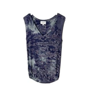 Feel the Piece V Neck Tied Dye Ribbed Tank Top